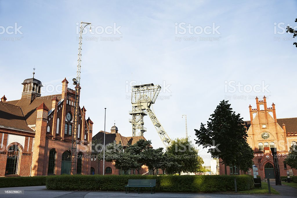 Zeche Zollern former coal mine stock photo