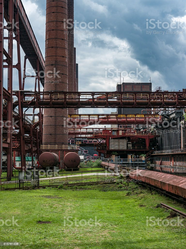 Zollverein Coking PLant see through stock photo
