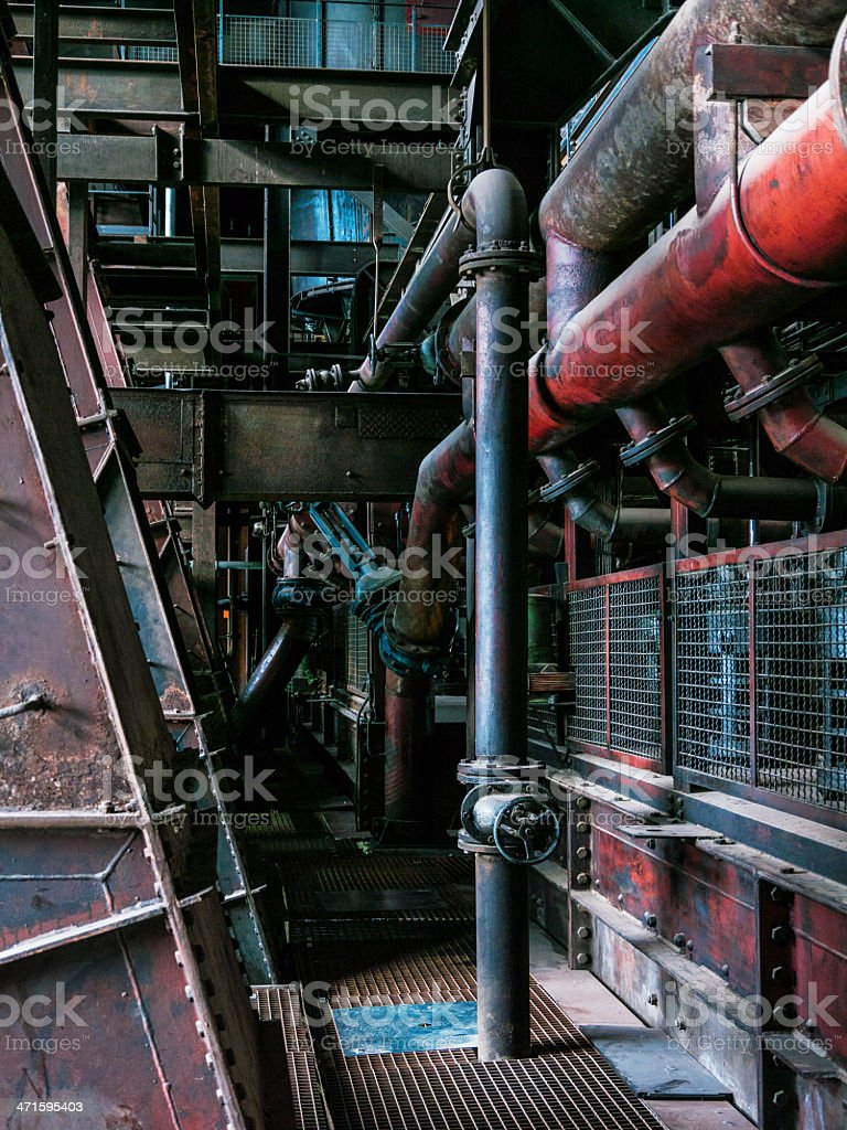 Zollverein Old Heavy Industry detail royalty-free stock photo
