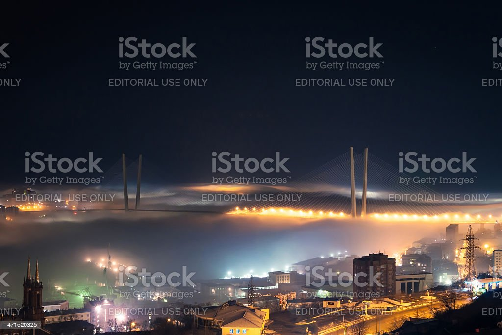 Zolotoy Rog Bridge. royalty-free stock photo