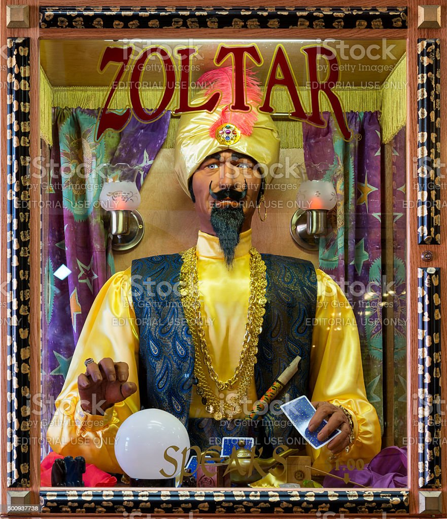 Zoltar Speaks stock photo