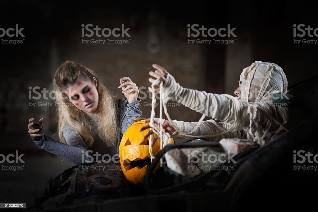 Zombie and Mummy Attack stock photo