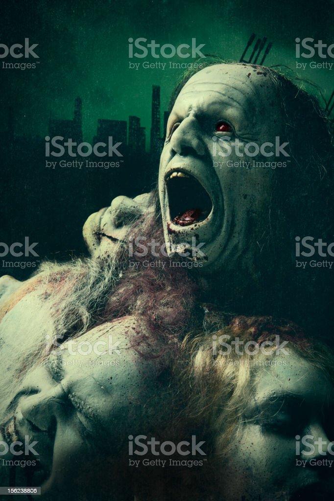 Zombie Apocalypse Rising - Silicon Sculpture stock photo
