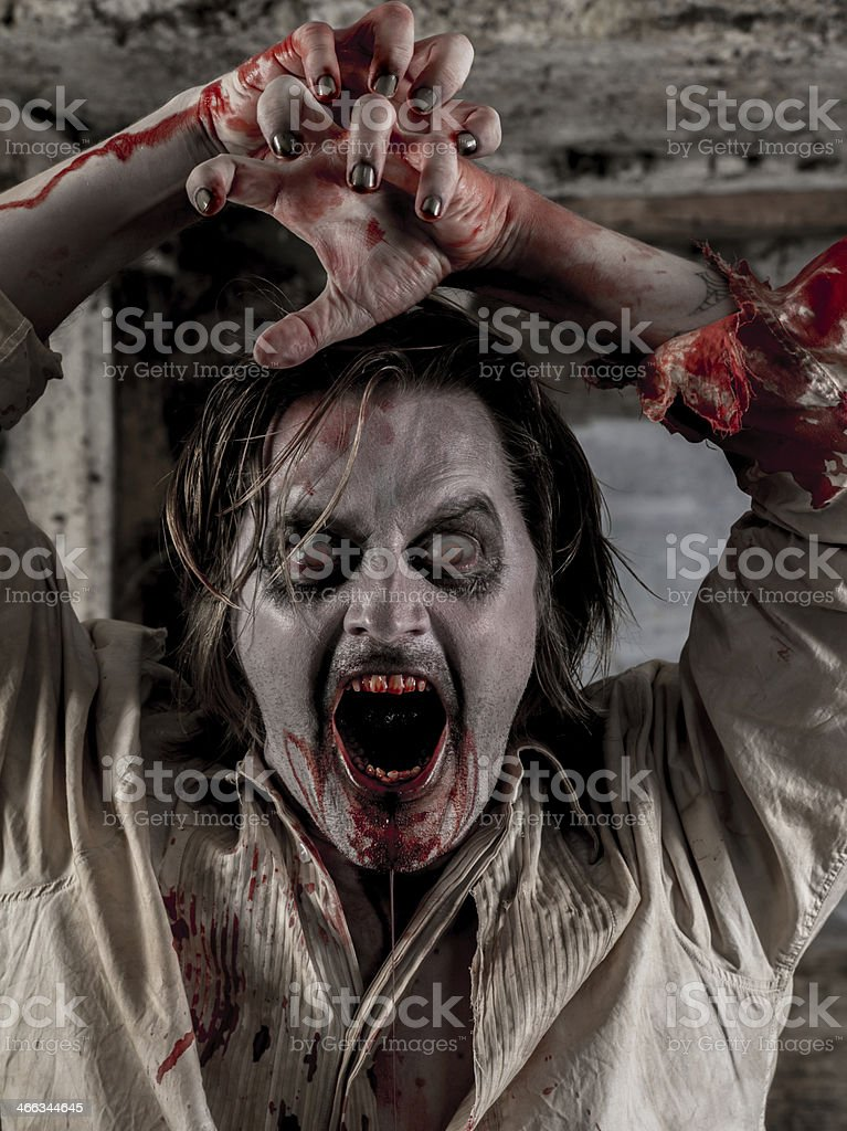 Zombie attack royalty-free stock photo
