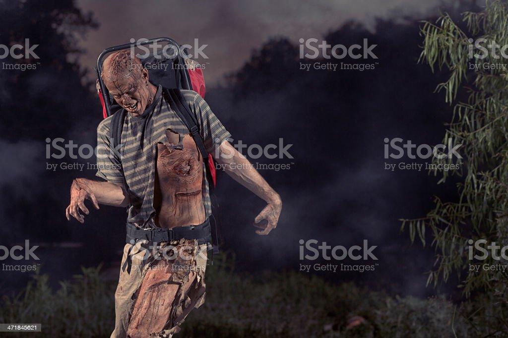 Zombie Backpacker royalty-free stock photo