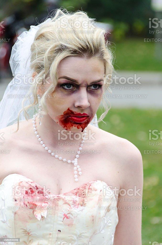 Zombie Bride royalty-free stock photo