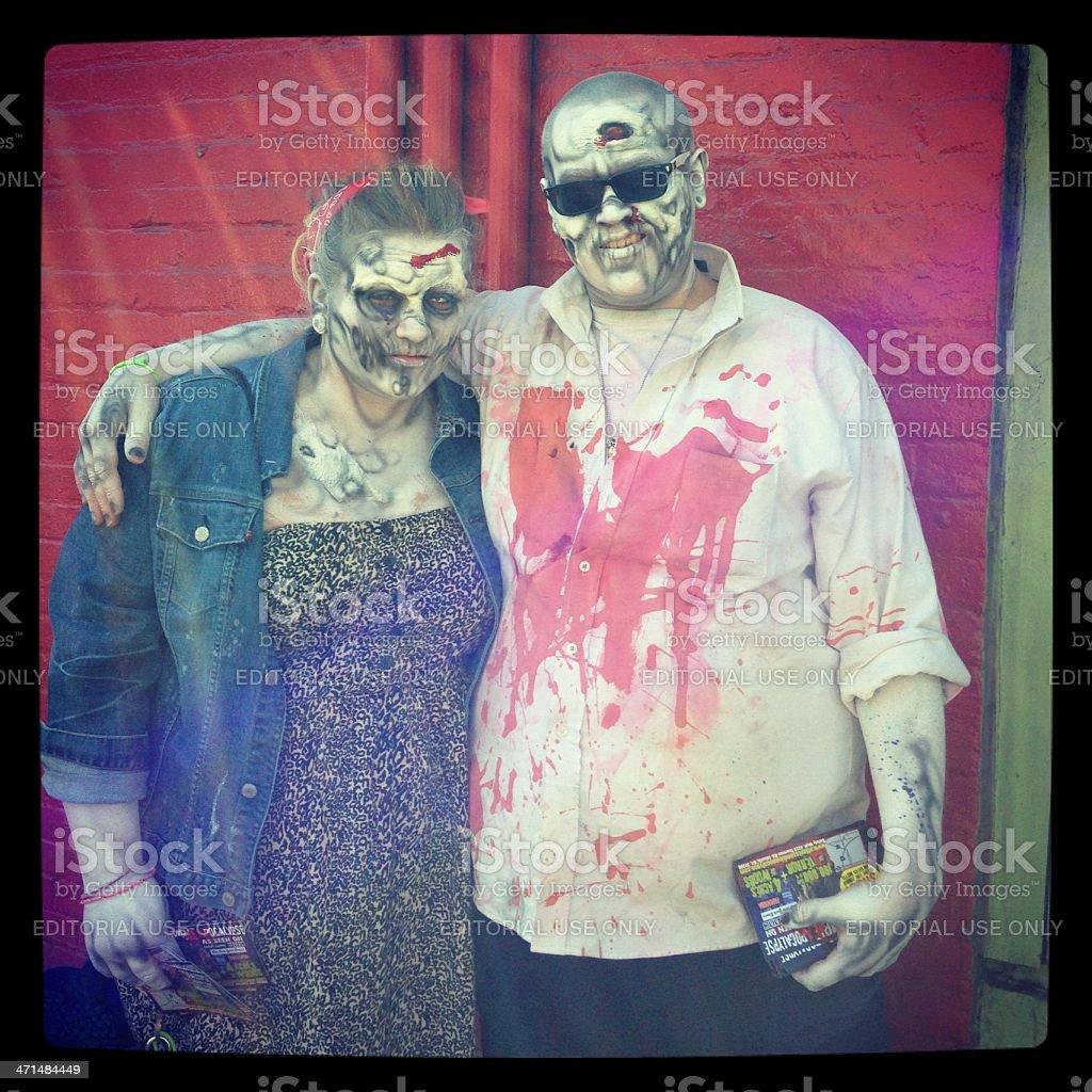 zombie couple stock photo