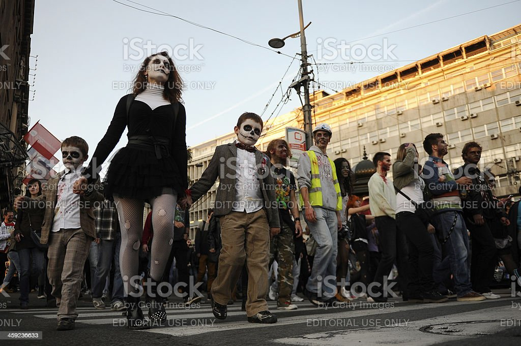Zombie Day of walking dead royalty-free stock photo