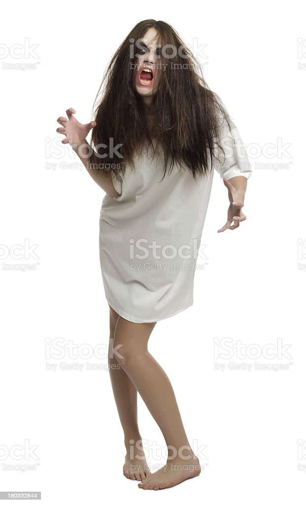 Zombie girl isolated royalty-free stock photo