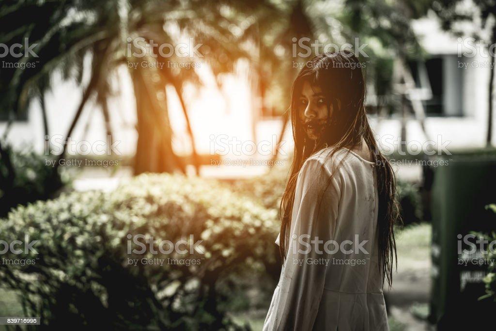 Zombie girl. stock photo