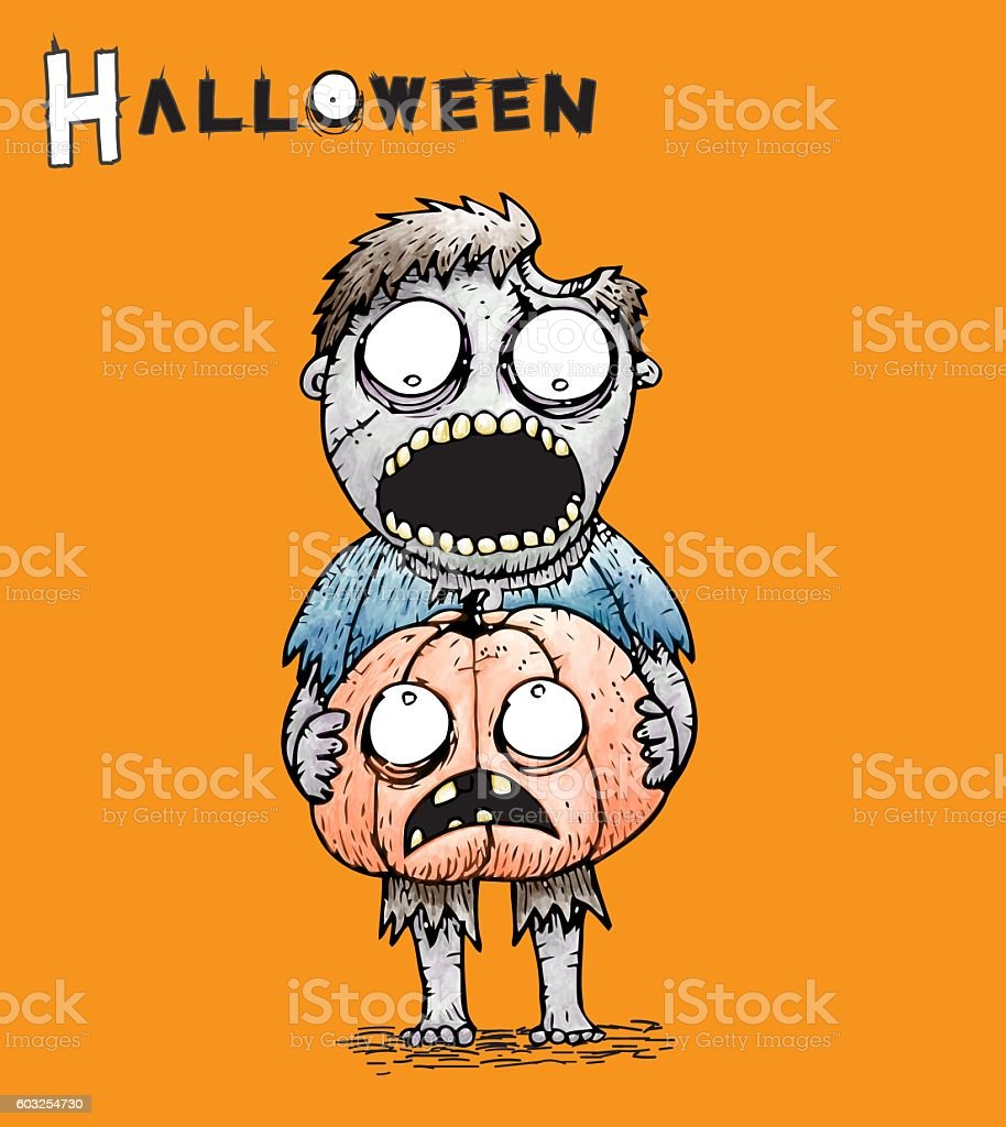 Zombie Halloween stock photo