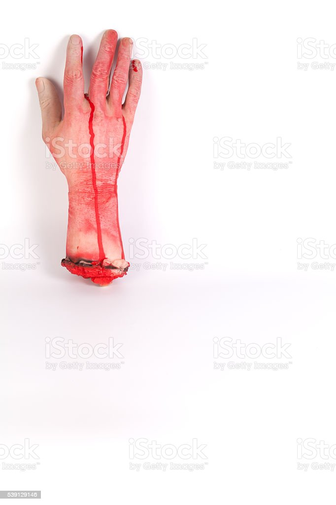 Zombie Hand ,terrible zombie hands, dirty hands of the mummy stock photo