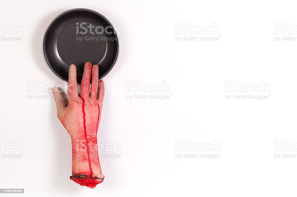 Zombie Hungry want to Cook stock photo