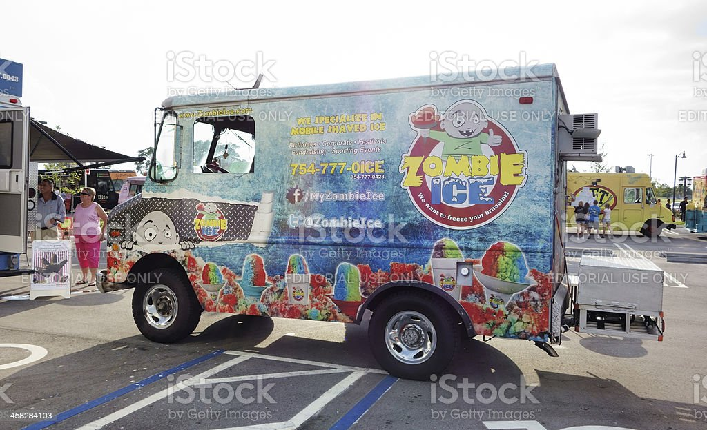 Zombie Ice Food Truck royalty-free stock photo