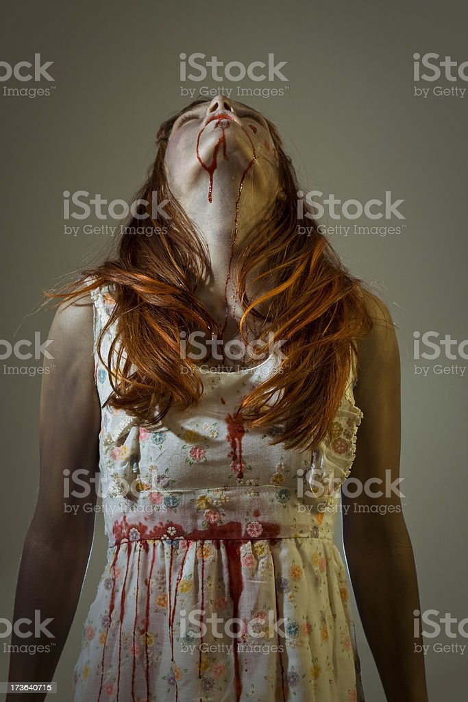zombie looking up royalty-free stock photo