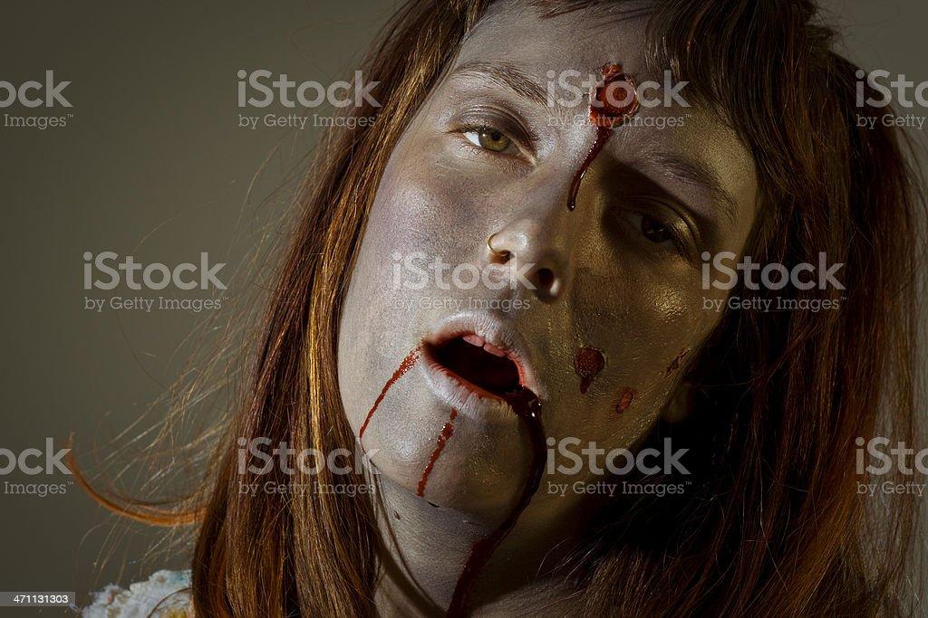 zombie moan stock photo
