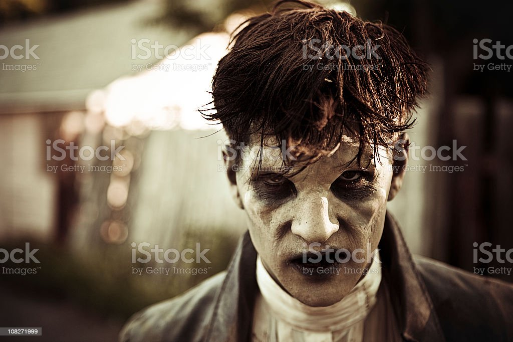 Zombie Monster Glaring stock photo