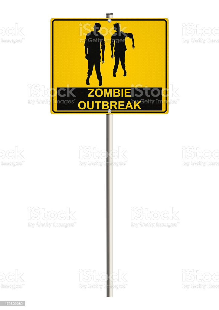 Zombie road sign stock photo