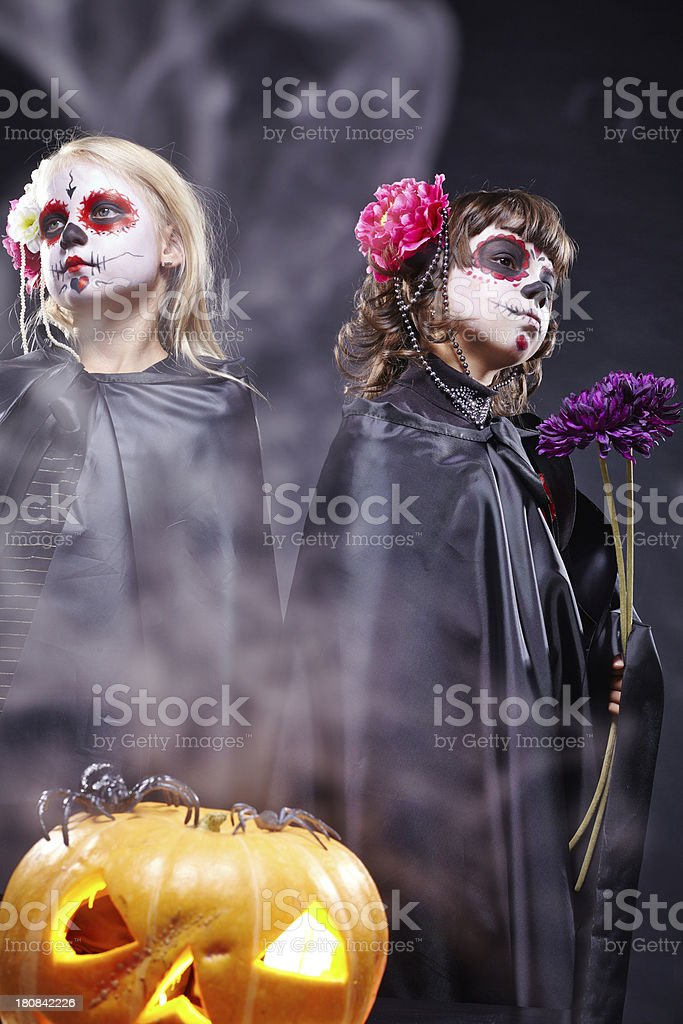 Zombie sisters royalty-free stock photo