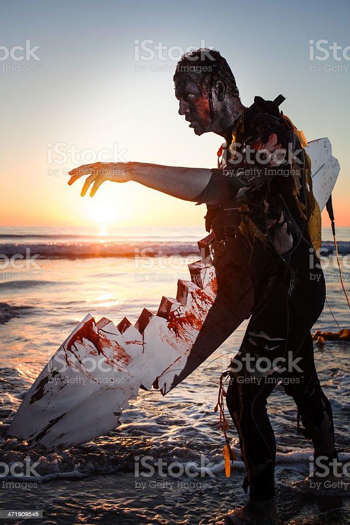 zombie surfer stock photo