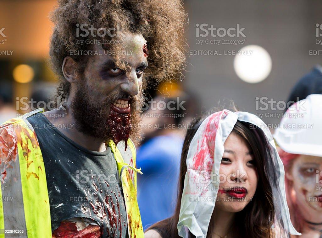 Zombie Walk In Sydney stock photo