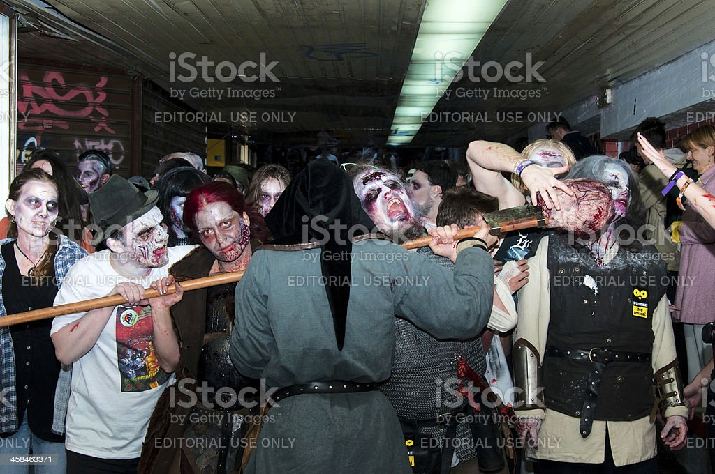 Zombie walk royalty-free stock photo