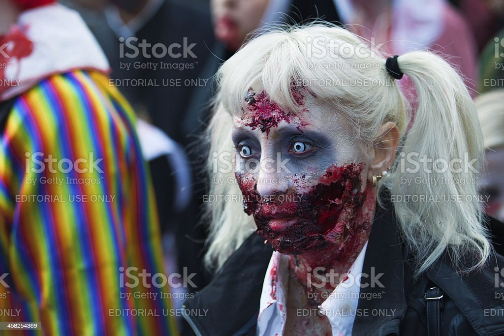 Zombie Walk Stockholm 2013 royalty-free stock photo