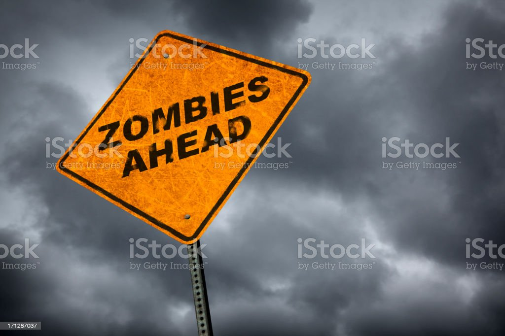 Zombies Ahead stock photo