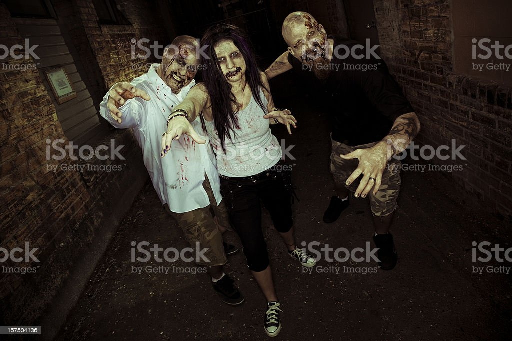 Zombies Attack stock photo