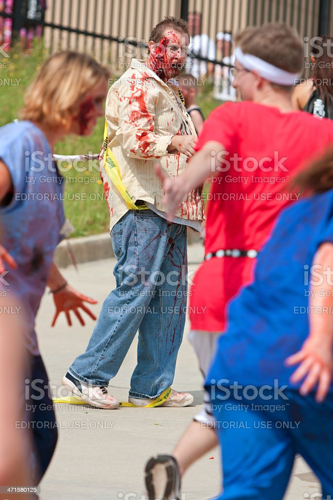 Zombies Chase Runners In Weird 5K Race stock photo