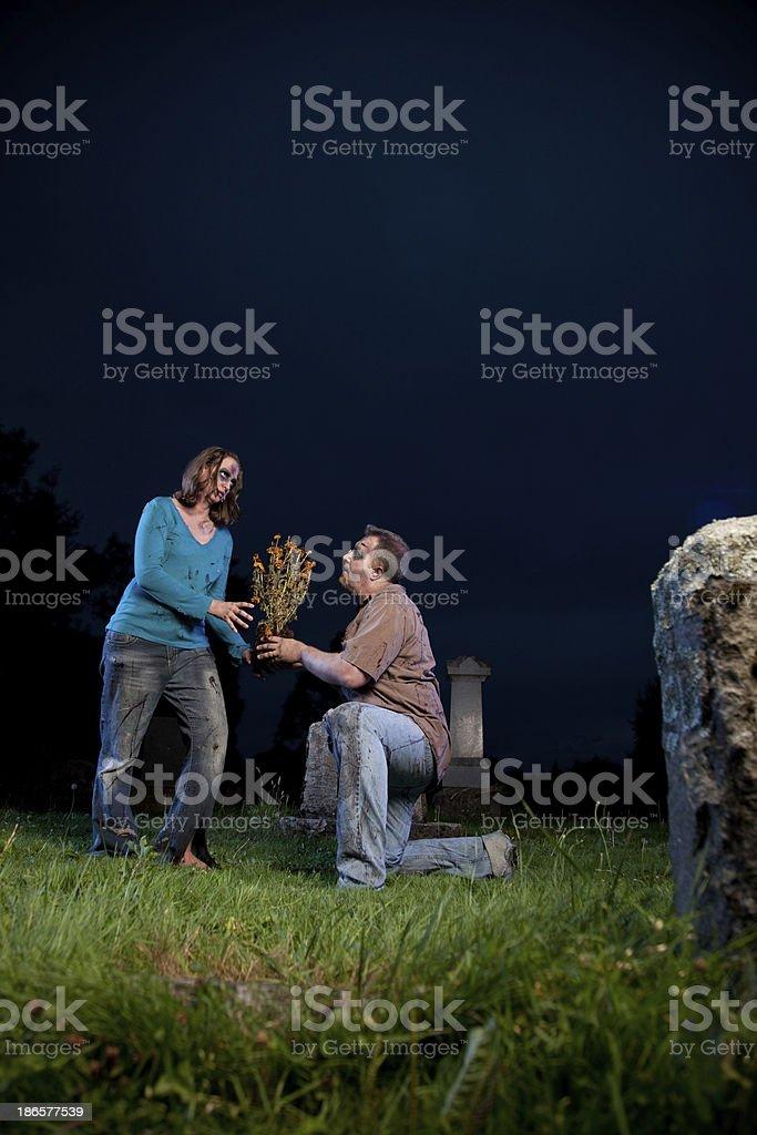 Zombies in Love royalty-free stock photo