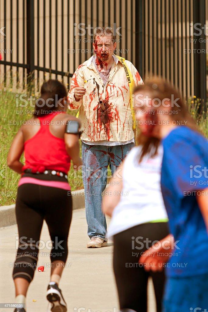 Zombies Menace Runners In Atlanta 5K Race stock photo