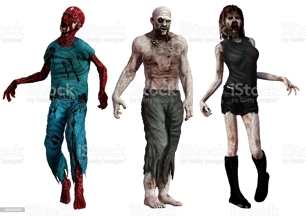 Zombies stock photo