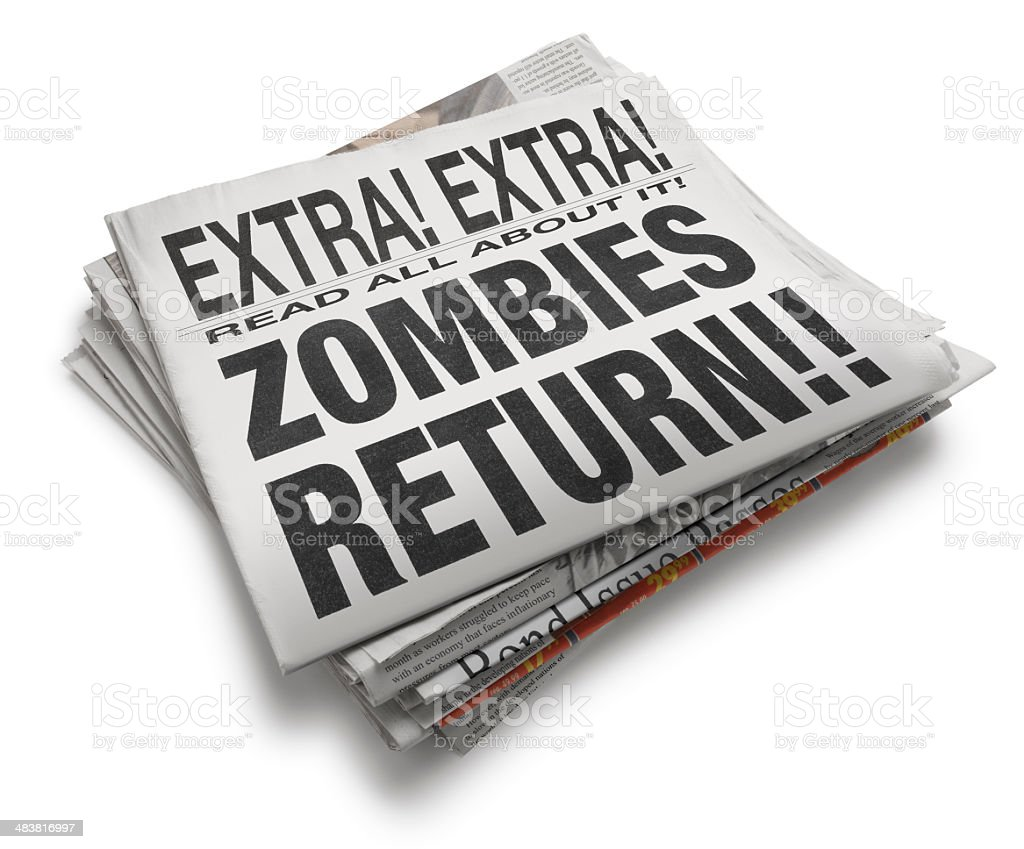 Zombies Return! stock photo