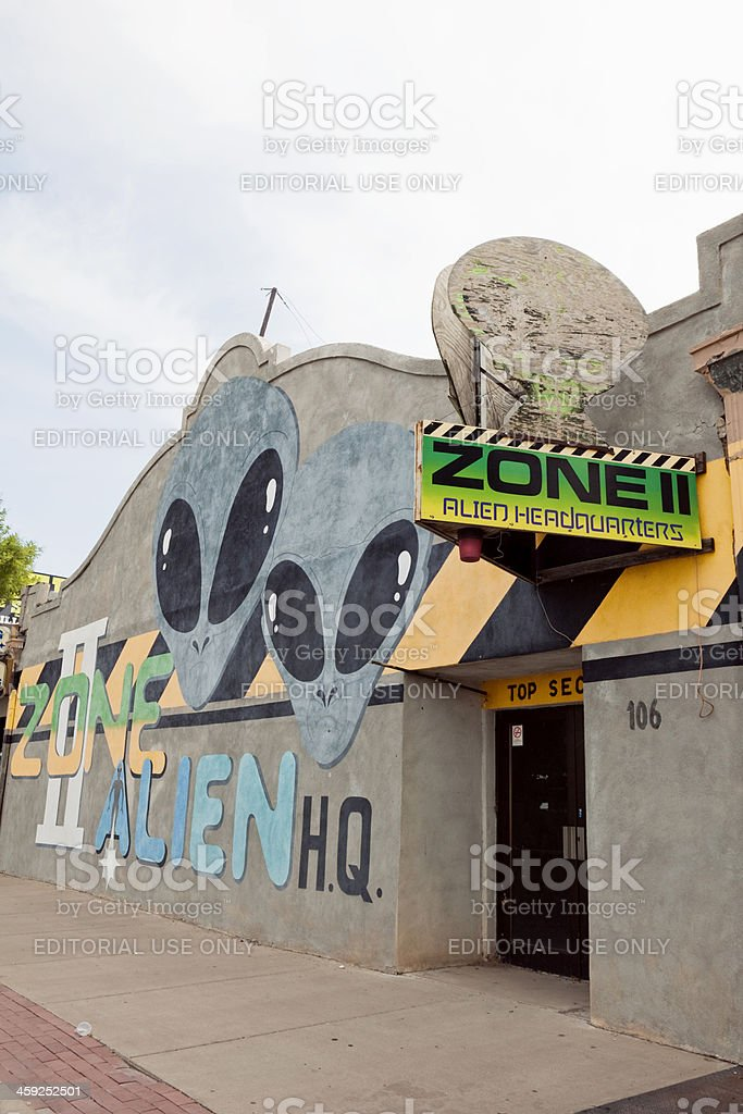 Zone 2 Alien HQ - Roswell, New Mexico stock photo