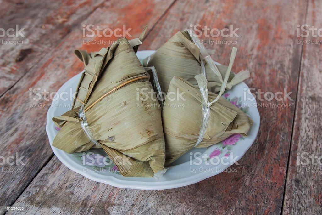 Zongzi , Asian Chinese rice dumplings. stock photo