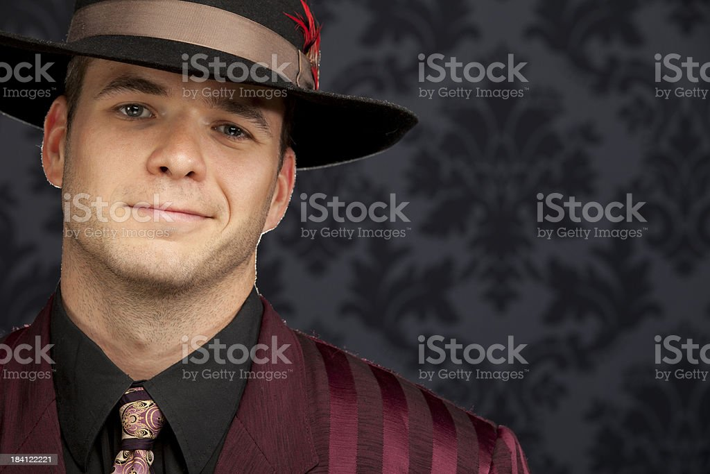 Zoot Suit Smile stock photo