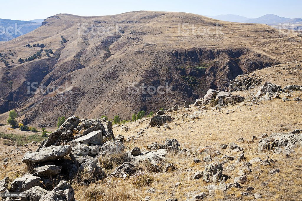 Zorats Karer - megalithic monument in mountains royalty-free stock photo