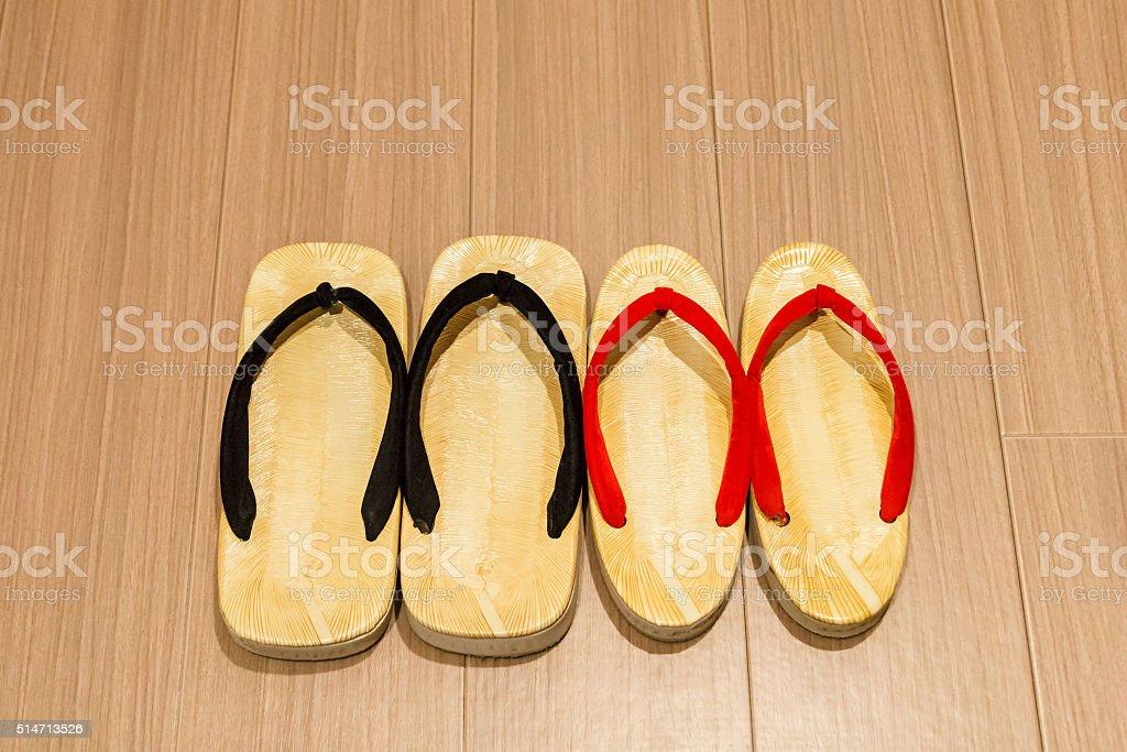 Zori sandal on floor. stock photo