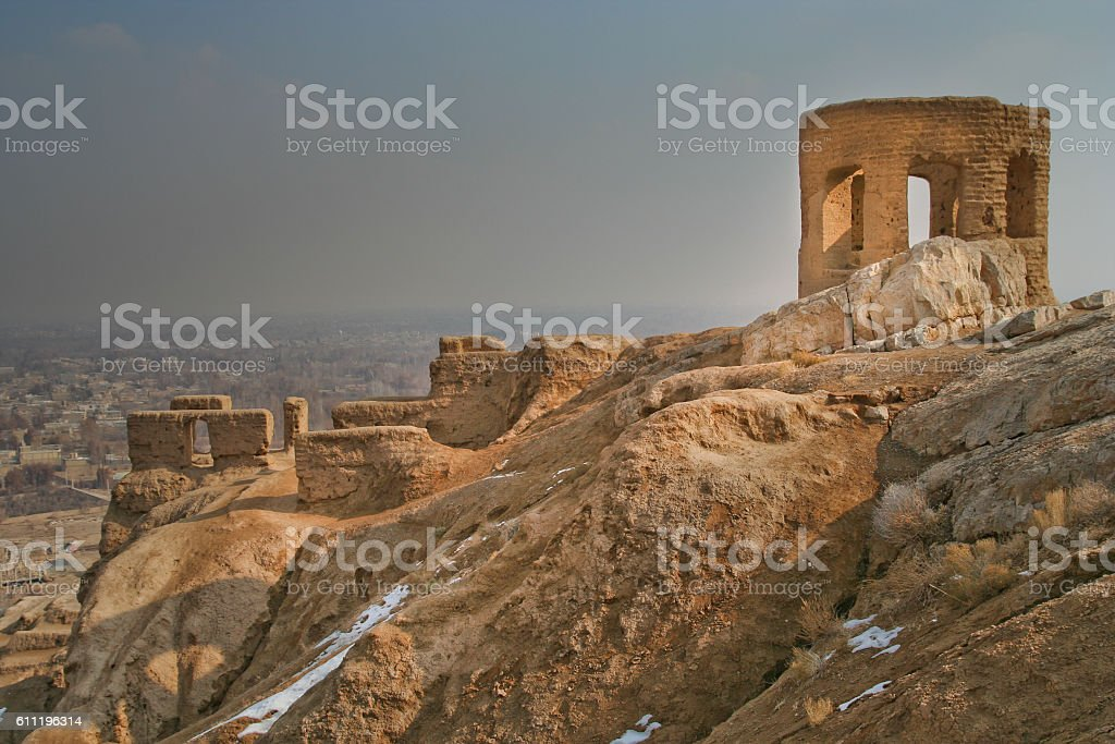 Zoroastrian Fire Temple stock photo