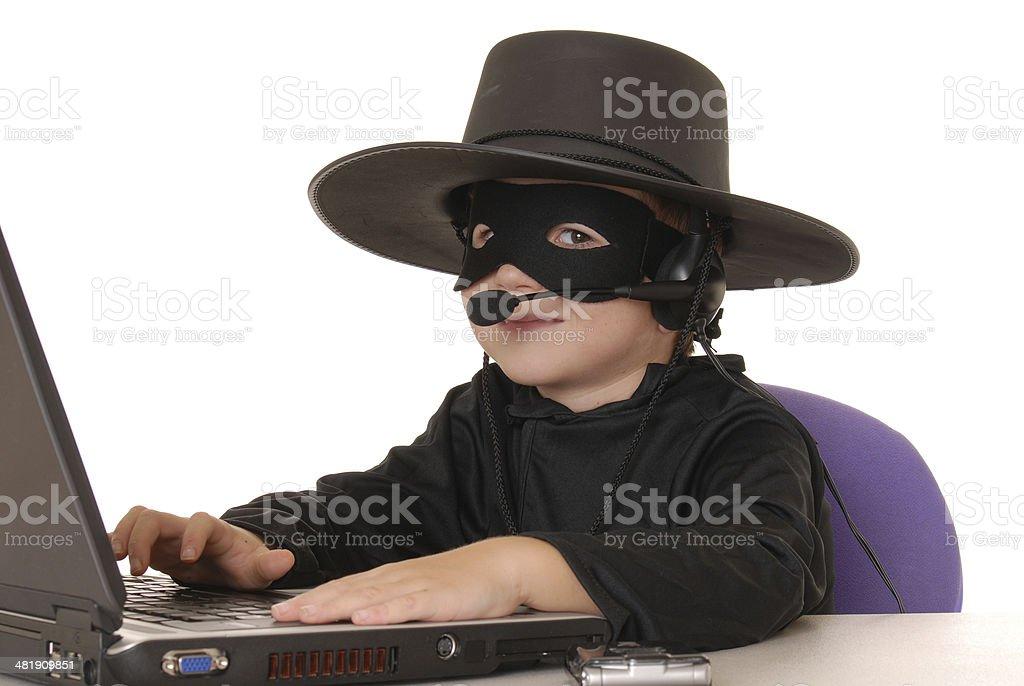 Zorro Help Desk 10 royalty-free stock photo