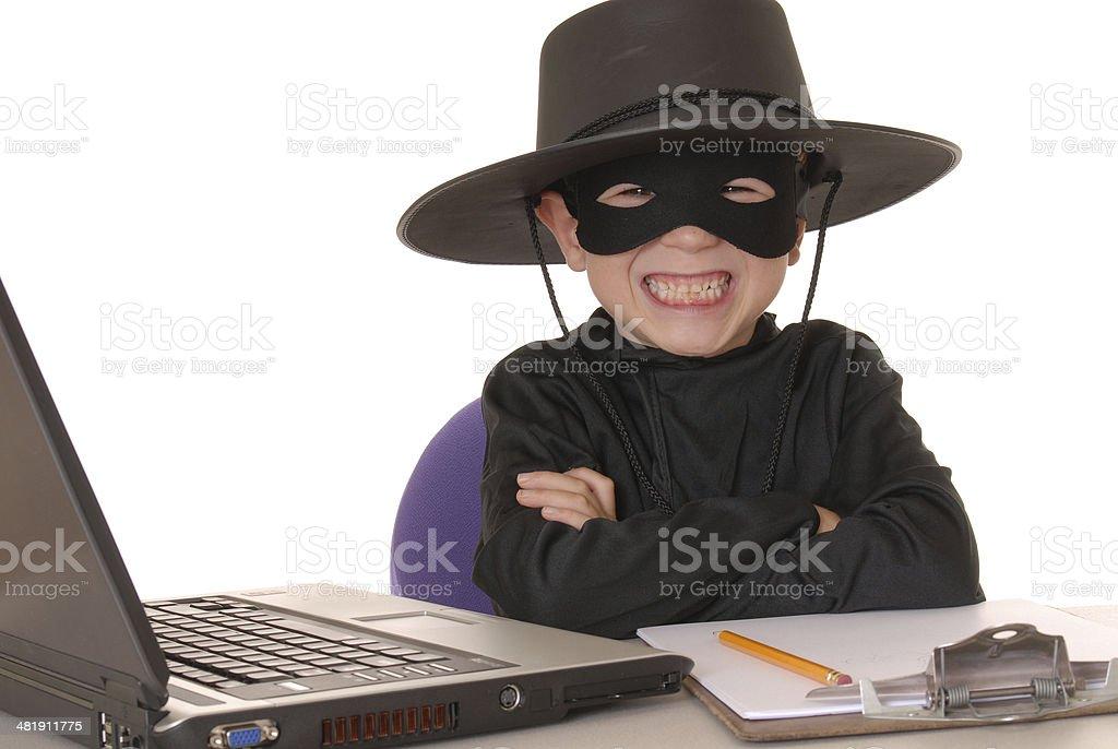 Zorro Help Desk royalty-free stock photo