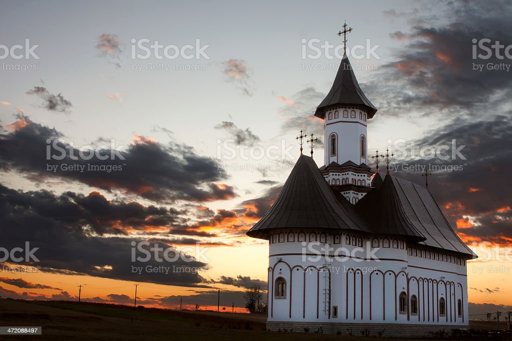 Zosin Monastery, Botosani Romania royalty-free stock photo