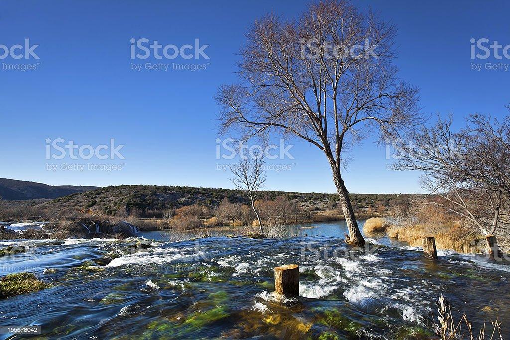 Zrmanija river stock photo