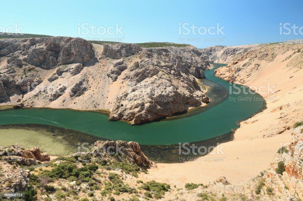 Zrmanja Canyon stock photo