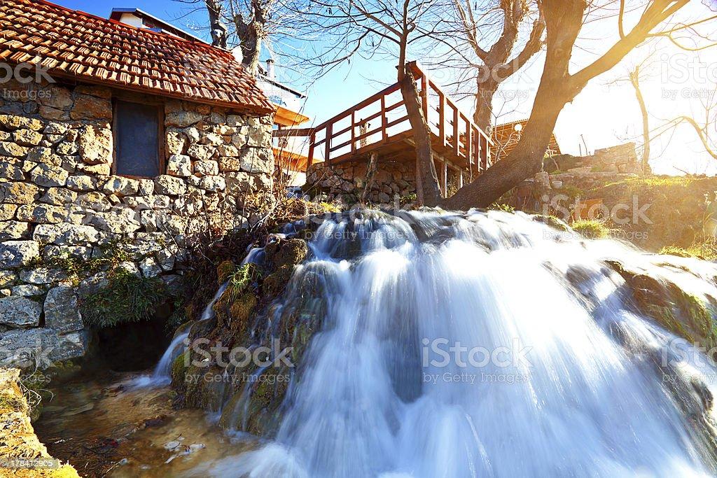 Zrmanja river near Zadar, Croatia stock photo
