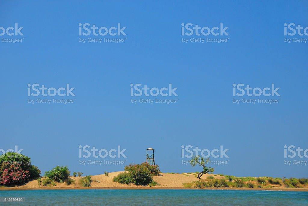 İztuzu Beach near Dalyan in Turkey stock photo
