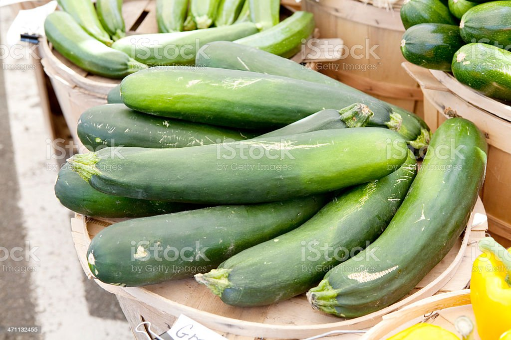 Zucchini at Market royalty-free stock photo