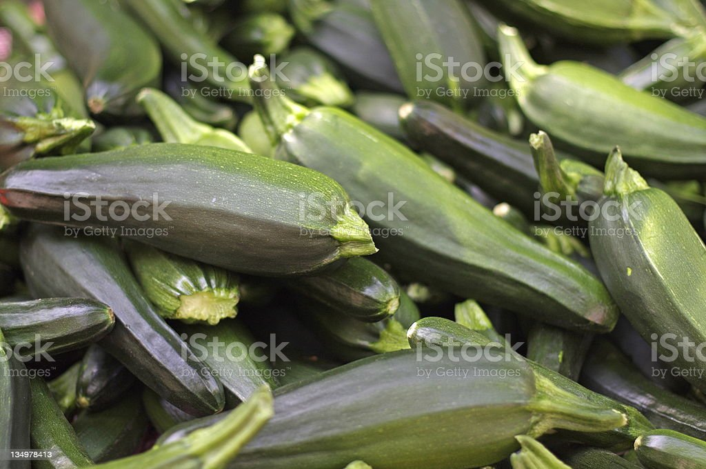 zucchini at the farmer's market royalty-free stock photo