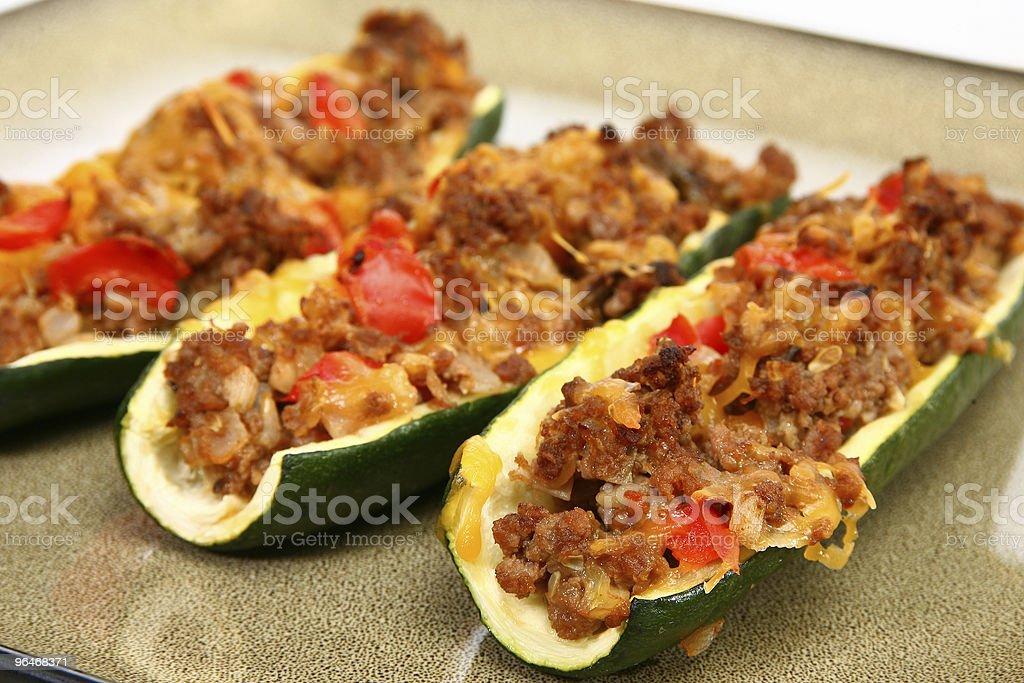 Zucchini Boat stock photo
